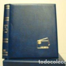 Tarjetas telefónicas de colección: ALBUM PARA TARJETAS TELEFONICAS 26X23CM. 4 ANILLAS. C/ CAJETÍN. AZUL.. Lote 176671064