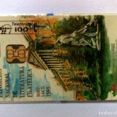 Tarjetas telefónicas de colección: TARJETA TELEFÓNICA:P-021,EXPO.NAC.FILATÉLICA (100 PTA.) TIRADA 2.000 EX. NUEVA,CON PRECINTO 07/93. Lote 176802555
