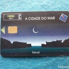 Tarjetas telefónicas de colección: FERROL. A CIDADE DO MAR. TIRADA : 52.100 EJEMPLARES. JUNIO DE 2000.. Lote 176840705