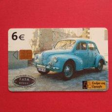 Carte telefoniche di collezione: TARJETA TELEFONICA DE ESPAÑA USADA B - 108 RENAULT 4/4 COCHES CON ENCANTO , 11/03. Lote 176905694