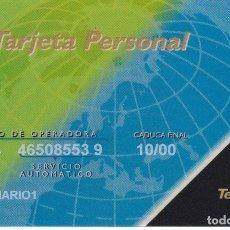Tarjetas telefónicas de colección: BMP-016/3 TARJETA PERSONAL DE TELEFONICA MULTIDESTINO (BENEFICIARIO 1) RARO. Lote 181141193