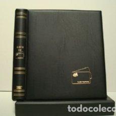 Tarjetas telefónicas de colección: ALBUM PARA TARJETAS TELEFONICAS 26X23CM. 4 ANILLAS. C/ CAJETÍN. NEGRO.. Lote 181324188