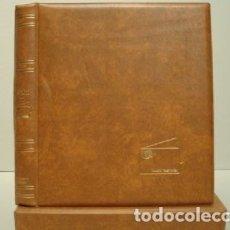 Cartões de telefone de coleção: ALBUM PARA TARJETAS TELEFONICAS 26X23CM. 4 ANILLAS. C/ CAJETÍN. BEIGE.. Lote 181324897