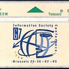 Tarjetas telefónicas de colección: TARJETA TELEFONICA USADA DE BELGICA AÑO 1.995. Lote 183013538