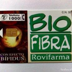 Cartões de telefone de coleção: TARJETA TELEFÓNICA:P-369:BIO FIBRA-ROVIFARMA (1000 PTA.) TIRADA 7.600 EX. (12/98). Lote 183412093