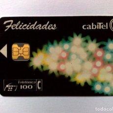 Cartes Téléphoniques de collection: TARJETA TELEFÓNICA:P-035:FELICIDADES CABITEL (100 PTA.) TIRADA 6.500 EX. (12/93). Lote 183412990