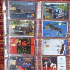 Tarjetas telefónicas de colección: HOJA CON 10 TARJETAS ESPAÑOLAS, 1 MAROC, ENVIO GRATIS PARA ESPAÑA.. Lote 183463710
