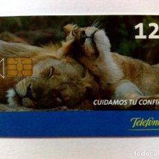 Tarjetas telefónicas de colección: TARJETA TELEFÓNICA,CUIDAMOS TU CONFIANZA (12€) TIRADA 3.800 EJEMPLARES (09/05). Lote 183486715