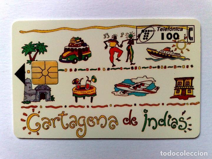 P-153:TARJETA TELEFÓNICA,CARTAGENA DE INDIAS (100 PTA.) TIRADA 4.000 EJEMPLARES (10/95) (Coleccionismo - Tarjetas Telefónicas)