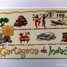 Cartes Téléphoniques de collection: P-153:TARJETA TELEFÓNICA,CARTAGENA DE INDIAS (100 PTA.) TIRADA 4.000 EJEMPLARES (10/95). Lote 183546083