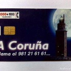 Cartões de telefone de coleção: CP-162:TARJETA TELEFÓNICA,A CORUÑA-O VEN (2000+100 PTA.) (07/99). Lote 183547308