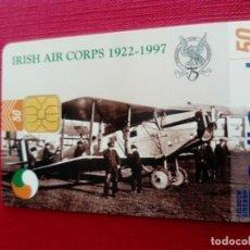 Tarjetas telefónicas de colección: TARJETA TELEFÓNICA CALLCARD IRISH AIR CORPS TIRADA 50 UNIDADES. Lote 184848080