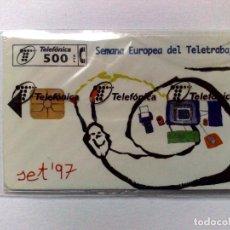 Cartes Téléphoniques de collection: TARJETA TELEFÓNICA:P-293:SET'97-CARACOL (500 PTA.) T. 6.000 EJEMPLARES,NUEVA CON PRECINTO 10/97. Lote 186043376