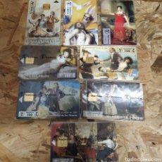 Tarjetas telefónicas de colección: 8 TARJETAS TELEFÓNICAS SIN USAR MUSEO DEL PRADO. Lote 187453908