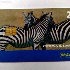 Tarjetas telefónicas de colección: TARJETA TELEFÓNICA,CUIDAMOS TU CONFIANZA (2€) TIRADA 6.500 EJEMPLARES (09/05). Lote 191702552