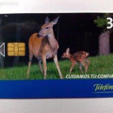 Tarjetas telefónicas de colección: TARJETA TELEFÓNICA,CUIDAMOS TU CONFIANZA (3€) TIRADA11.500 EJEMPLARES (09/05). Lote 191702850