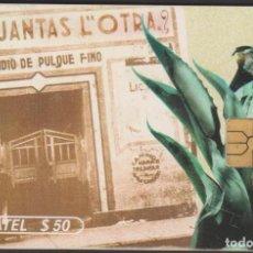 Tarjetas telefónicas de colección: TARJETA TELEFÓNICA MEXICO LADATEL $50 TELMEX PHONECARD TELEPHONE CHIP TELÉFONO PUBLICO PULQUERIAS. Lote 191828696