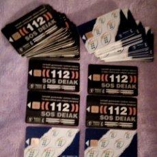 Tarjetas telefónicas de colección: TARJETAS TELEFÓNICAS CABINAS 112 NEGRA Y CABITEL AZUL TARJETA TELEFONICA CABINA AÑOS 90 NUEVAS!!!!. Lote 192509520