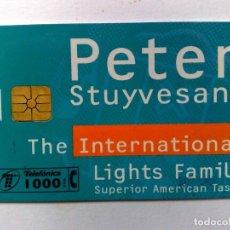 Tarjetas telefónicas de colección: TARJETA TELEFÓNICA (1000 PTA.) PETER STUYVESANT,LIGHTS FAMILY (12/97). Lote 194591853