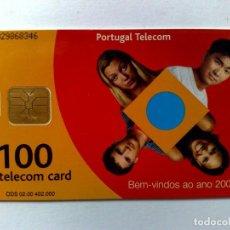 Tarjetas telefónicas de colección: TARJETA TELEFÓNICA (100) BIENVENIDO AÑO 2000,TELECOM CARD. Lote 194592020