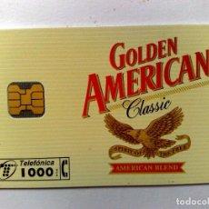 Tarjetas telefónicas de colección: TARJETA TELEFÓNICA:P-148;GOLDEN AMERICAN (1000 PTA) 09/95. Lote 194592333