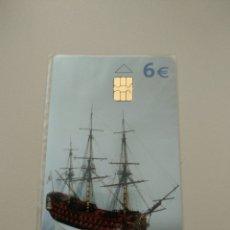 Tarjetas telefónicas de colección: BARCO SANTÍSIMA TRINIDAD NUEVO. Lote 194940307