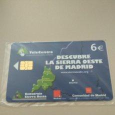 Tarjetas telefónicas de colección: DESCUBRE LA SIERRA OESTE DE MADRID. Lote 194940518