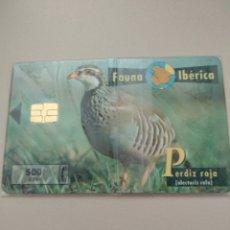 Tarjetas telefónicas de colección: FAUNA IBÉRICA PERDIZ ROJA NUEVA. Lote 194941241