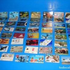 Tarjetas telefónicas de colección: LOTE DE 47 TARJETAS DE TELEFONO-VARIADAS-TODAS DIFERENTES. Lote 195059956