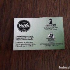 Tarjetas telefónicas de colección: TARJETA DE VISITA DE PUBLICIDAD, LICORS MOYÀ, ARTÀ. MALLORCA.. Lote 195241463