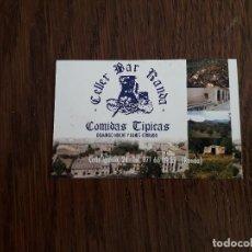 Tarjetas telefónicas de colección: TARJETA DE VISITA DE PUBLICIDAD, CELLER BAR RANDA, RANDA. MALLORCA.. Lote 195241562