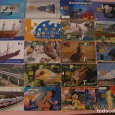 Tarjetas telefónicas de colección: LOTE DE 20 TARJETAS TELEFÓNICAS DE ESPAÑA. DIFERENTES.. Lote 195325727