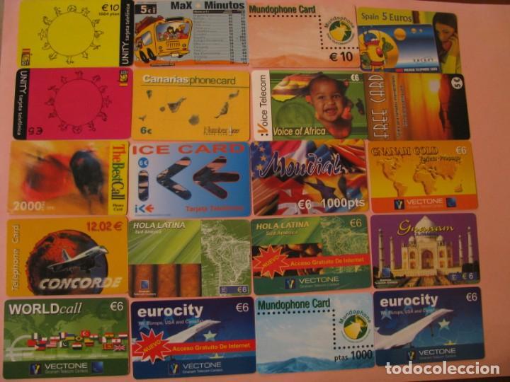 LOTE DE 42 TARJETAS TELEFÓNICAS DE PREPAGO. DIFERENTES. (Coleccionismo - Tarjetas Telefónicas)