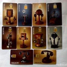 Tarjetas telefónicas de colección: SELECCIÓN DE 10 TARJETAS TELEFONICAS,TODAS DISTINTAS,TEMA:COLECCIÓN HISTORICAS DE TELEFÓNOS.. Lote 200102948