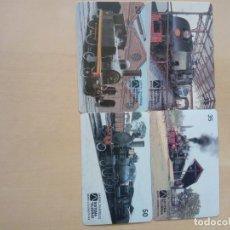 Cartes Téléphoniques de collection: 4 TARJETA TELEFONICA TRENES. Lote 200610973