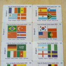 Cartes Téléphoniques de collection: 8 TARJETA TELEFONICA MUNDIAL FUTBOL. Lote 200611066