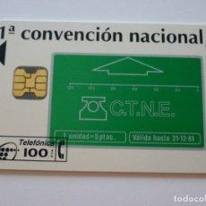 Tarjetas telefónicas de colección: TARJETA TELEFÓNICA PHONECARD P- 63A 1ª CONVENCIÓN COLECCIONISTAS 1994. Lote 203620691