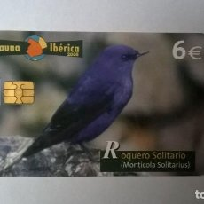 Cartes Téléphoniques de collection: TARJETA TELEFONICA FAUNA IBÉRICA ROQUERO SOLITARIO. Lote 205735585