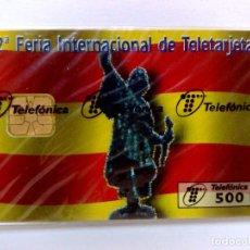 Tarjetas telefónicas de colección: TARJETA TELEFONICA;P-308; TELEBARNA'97 (500 PTA.) TIRADA 5.500 EX.,NUEVA CON PRECINTO (11/97). Lote 205765706