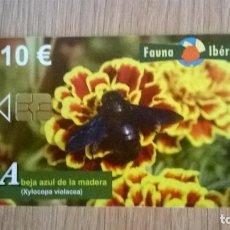 Cartes Téléphoniques de collection: TARJETA TELEFONICA FAUNA IBÉRICA ABEJA AZUL DE LA MADERA. Lote 206570547
