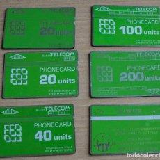 Tarjetas telefónicas de colección: 6 TARJETAS TELEFONICAS TELECOM PHONECART. Lote 208946815