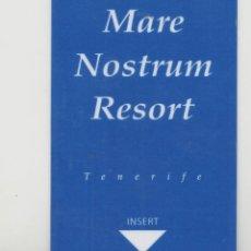 Tarjetas telefónicas de colección: LOTE C-TARJETA LLAVE DE HOTEL TENERIFE CANARIAS. Lote 222901163