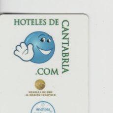Tarjetas telefónicas de colección: LOTE C-TARJETA LLAVE DE HOTEL CANTABRIA SANTANDER. Lote 222738443