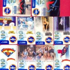 Tarjetas telefónicas de colección: TARJETAS TELEFONICAS TEMATICA DE CINE Y SERIES TV. Lote 210022521