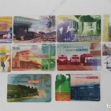 Tarjetas telefónicas de colección: SERIE DE 10 TARJETAS TELEFONICAS DE TRENES DE ARGENTINA. Lote 212621902