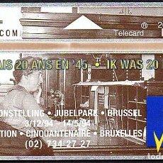 Tarjetas telefónicas de colección: TARJETA TELEFONICA USADA DE BELGICA AÑO 1.994. Lote 212855771