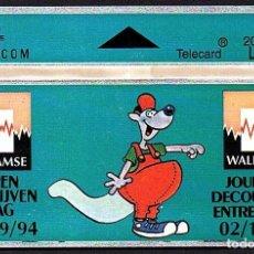 Tarjetas telefónicas de colección: TARJETA TELEFONICA USADA DE BELGICA AÑO 1.994. Lote 212855866