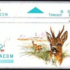 Tarjetas telefónicas de colección: TARJETA TELEFONICA USADA DE BELGICA AÑO 1.994. Lote 212856058