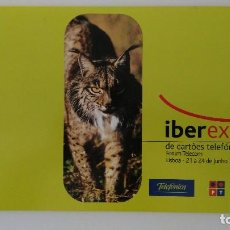 Tarjetas telefónicas de colección: FOLDER DE 4 TARJETAS LINCE IB ERICO. Lote 212856077