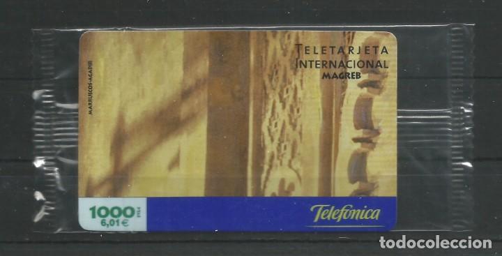 """TARJETA TELEFÓNICA.""""LLAMADAS INTERNACIONALES, MAGREB"""" NUEVA CON PRECINTO. FACIAL 6,01 EUROS (Coleccionismo - Tarjetas Telefónicas)"""